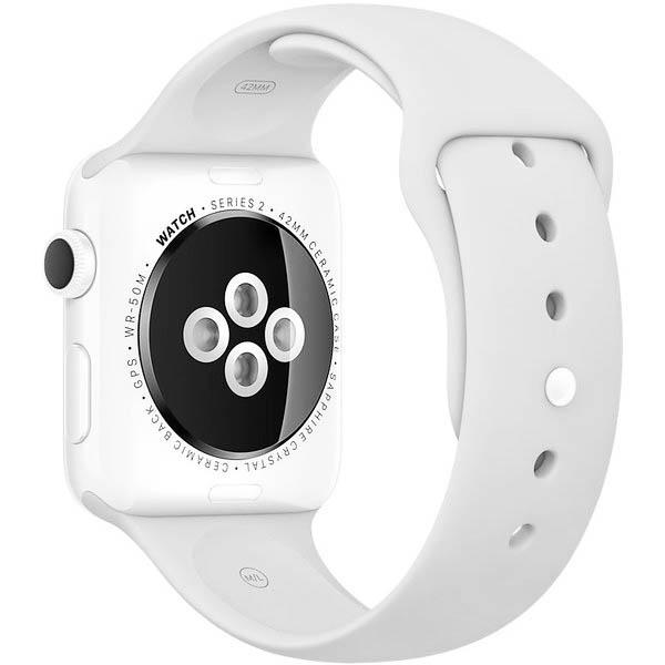 curea silicon alb apple watch