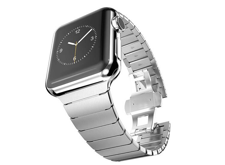 bratara metal gri apple watch 4
