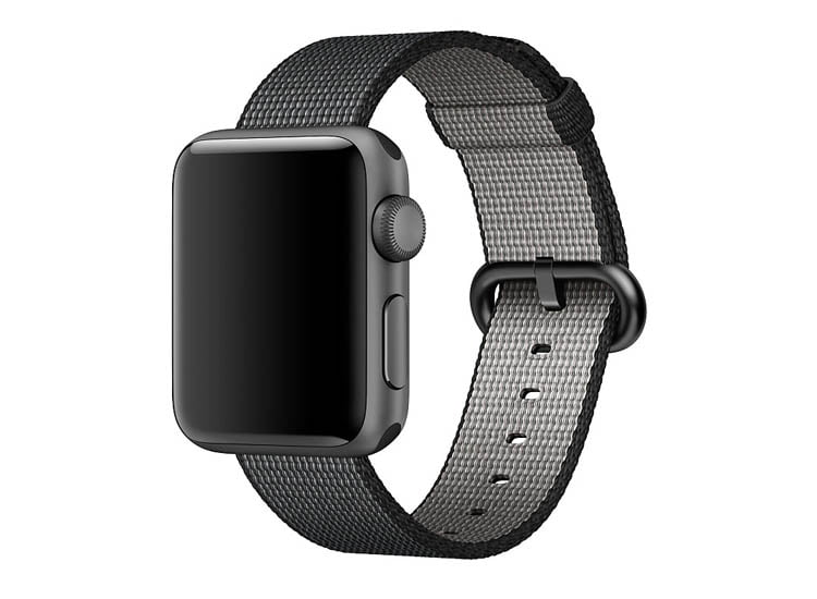 curea neagra apple watch 1 2 3 4 din material textil