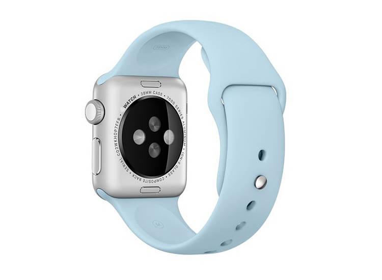 curea albastru deschis apple watch