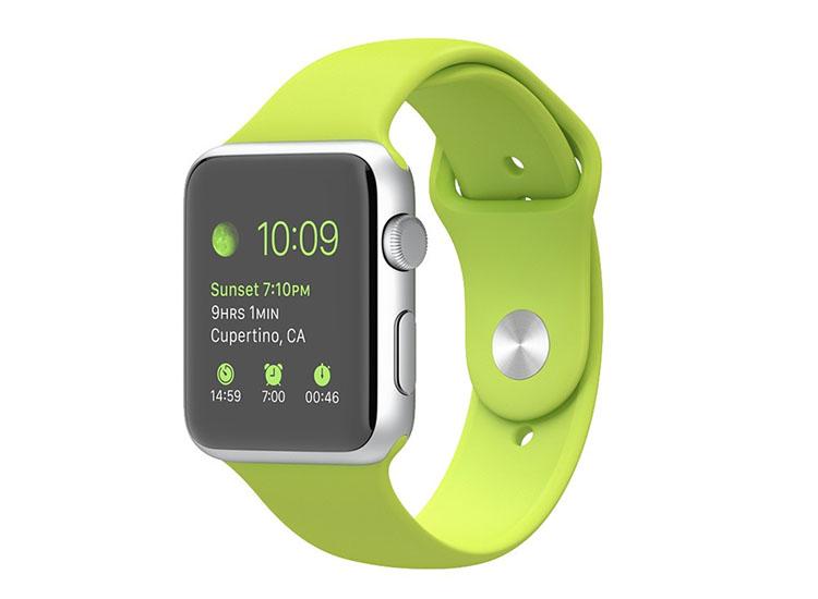 curea verde apple watch din silicon