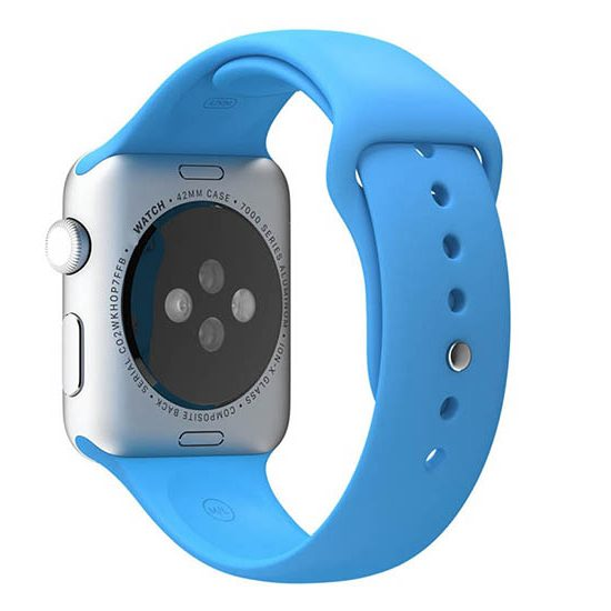 bratara silicon albastra apple watch