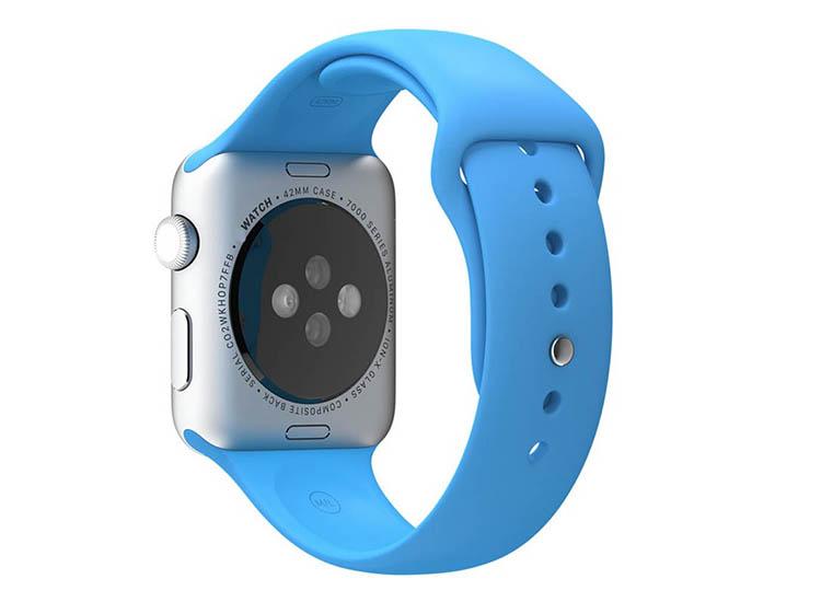 bratara silicon albastra apple watch