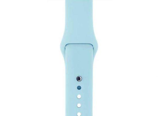 bratara silicon albastru deschis apple watch