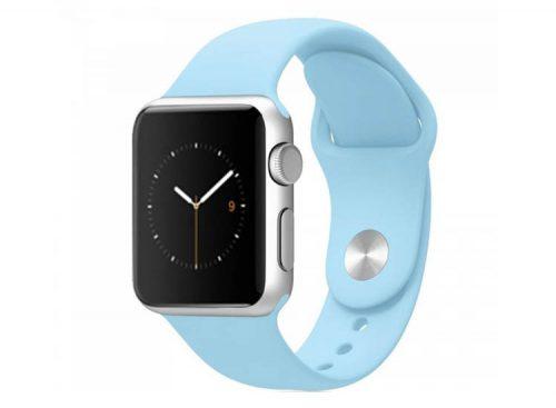 curea iwatch albastru turcoaz silicon
