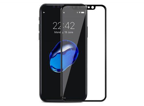 folie sticla cu rama neagra apple iphone x