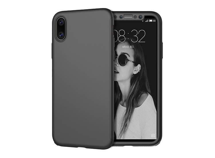 husa completa 360 apple iphone x neagra