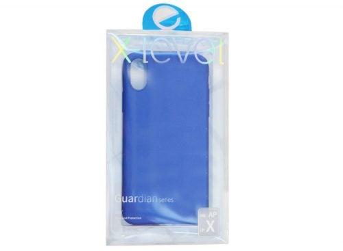 husa x-level apple iphone x din silicon albastru