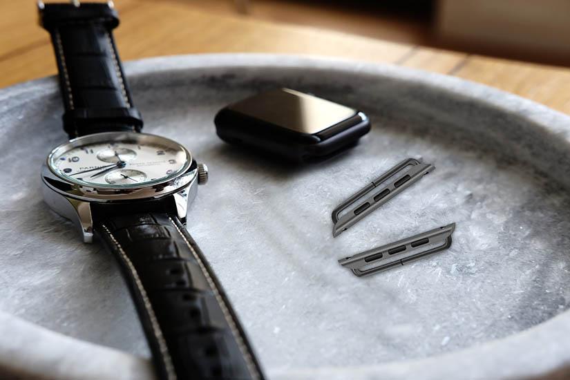 adaptor negru curea apple watch