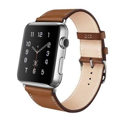 curea piele maro apple watch