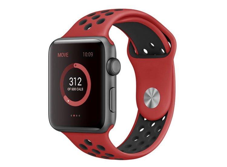 bratara silicon rosu sport apple watch