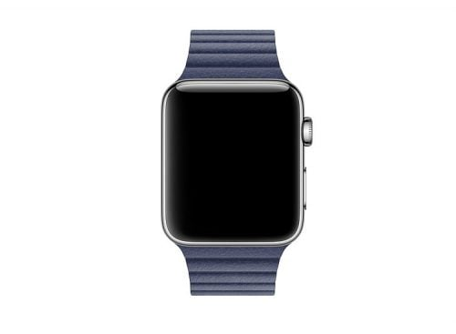 Bratara piele Apple Watch albastra