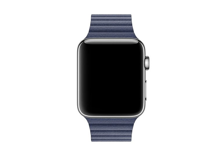 Bratara piele Apple Watch albastra