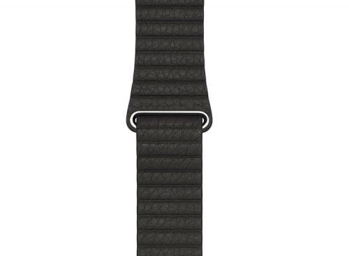 Bratara neagra cu zale din piele naturala pentru Apple Watch 38mm si Apple Watch 42mm