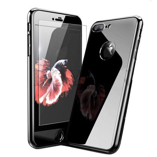 husa full body 360 glossy black jet black iphone 7 8