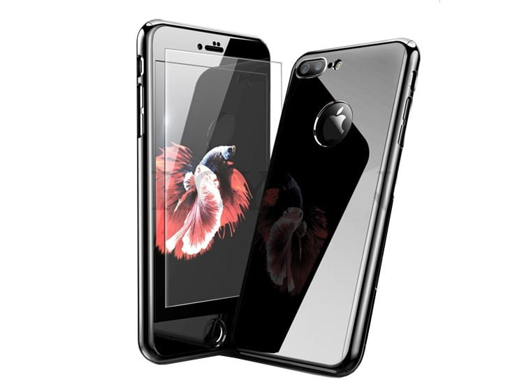 husa full body 360 glossy black jet black iphone 7 8