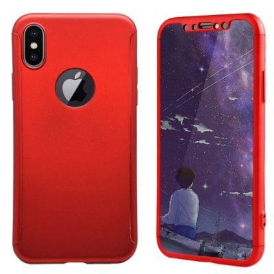 husa full body 360 iphone x red