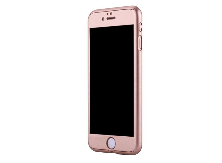 husa completa iphone 7 rose full body 360