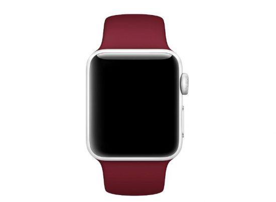 curea rosu inchis apple watch
