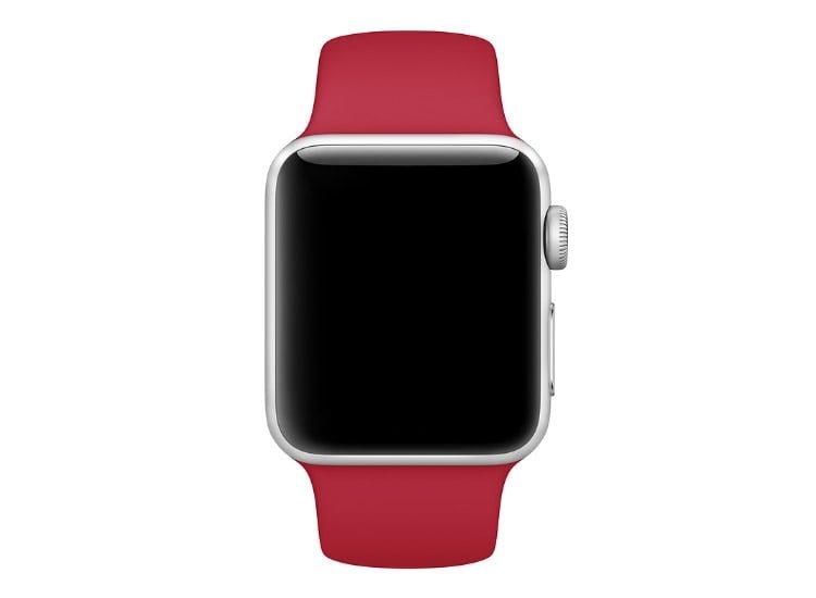 bratara rosie apple watch rosu inchis