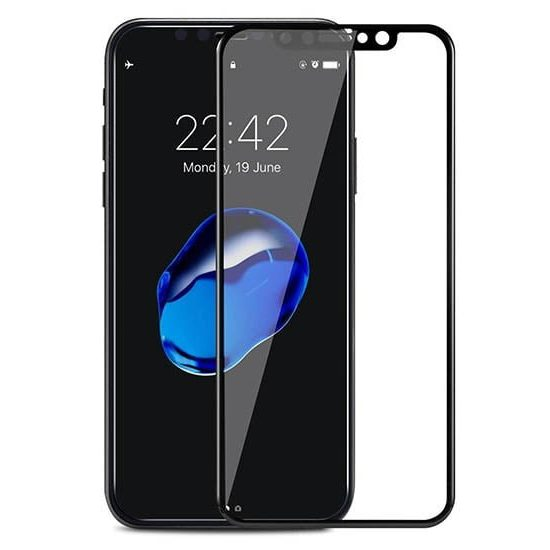 folie 3d apple iphone xs max cu rama neagra