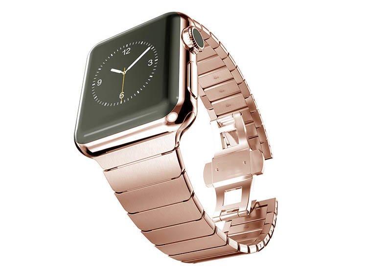 curea rose gold pentru apple watch