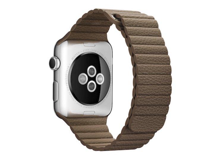 curea cu zale late apple watch maro