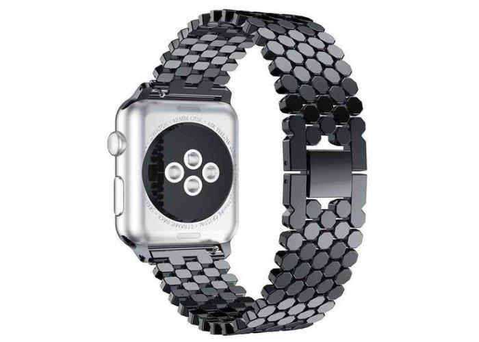 Curea Apple Watch Neagra din metal